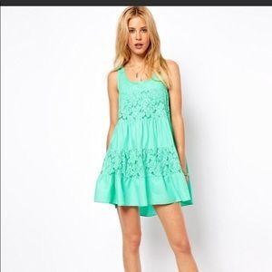 ASOS PETITE  Lace Insert Trapeze Dress 4P